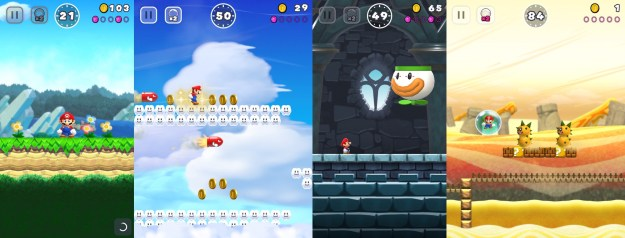 A few Super Mario Run screenshots