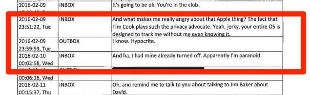 More text messages between two FBI employees