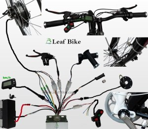 24 inch 36V 750W front hub motor electric bike conversion kit