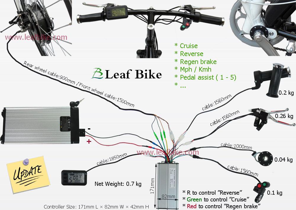 26 Inch 48V 1000W Front Hub Motor Electric Bike Conversion Kit