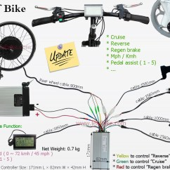 E Bike Controller Wiring Diagram Plant Cell Project 26 Inch 48v 1000w Rear Hub Motor Electric Conversion Kit - Leaf Newest Version