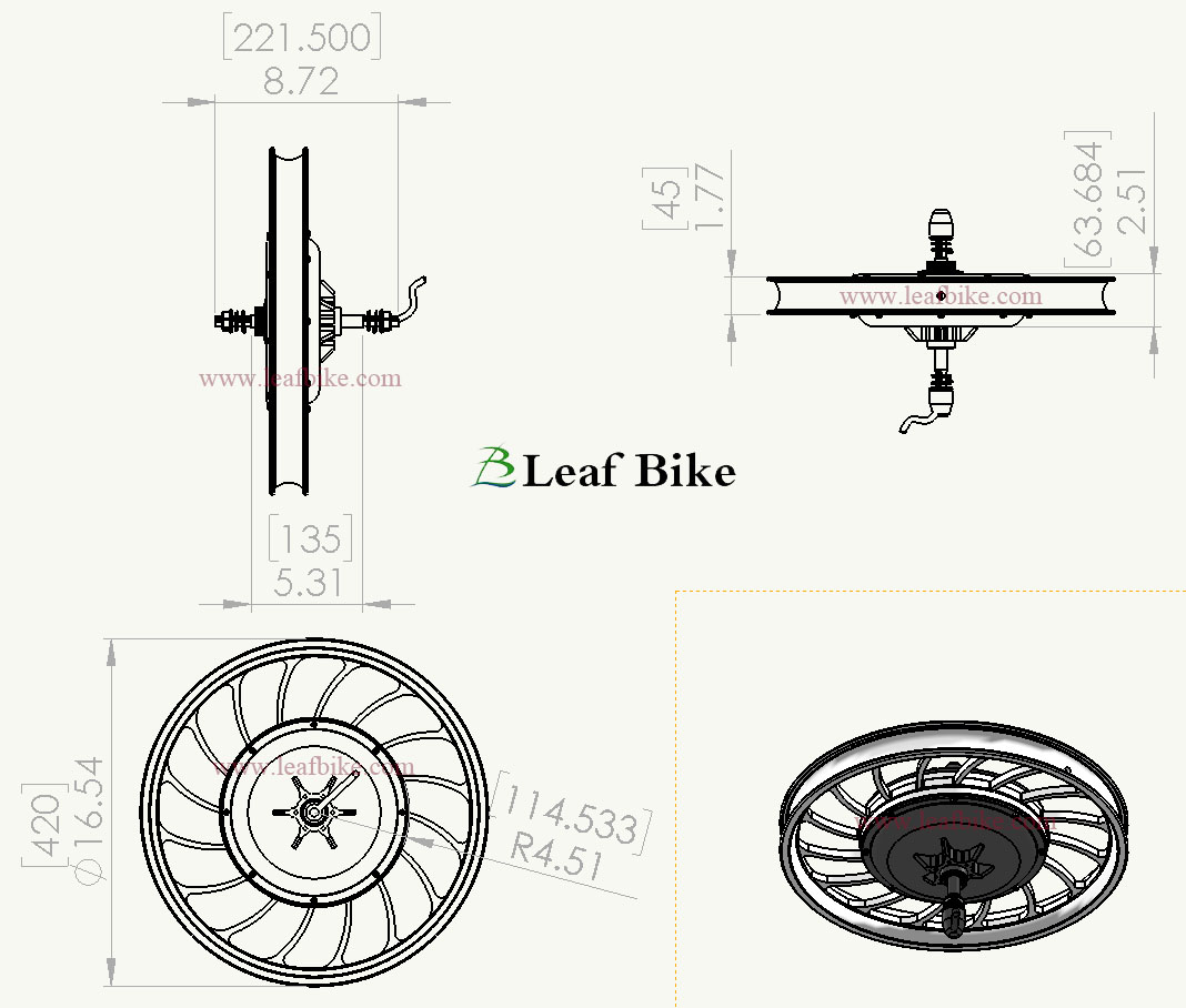20 Inch 36v 750w Rear Casted Hub Motor Electric Bike