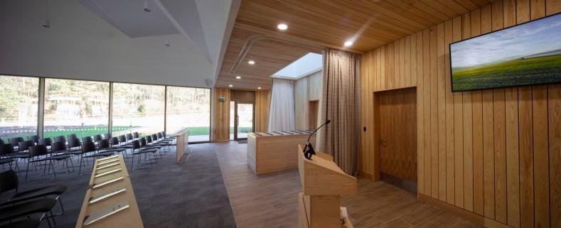 Lea Fields Crematorium - inside the chapel
