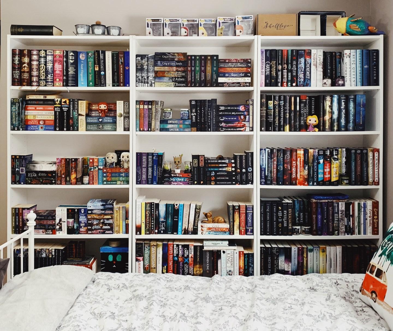 A not-so-long shelf life – my bookshelves then vs. now