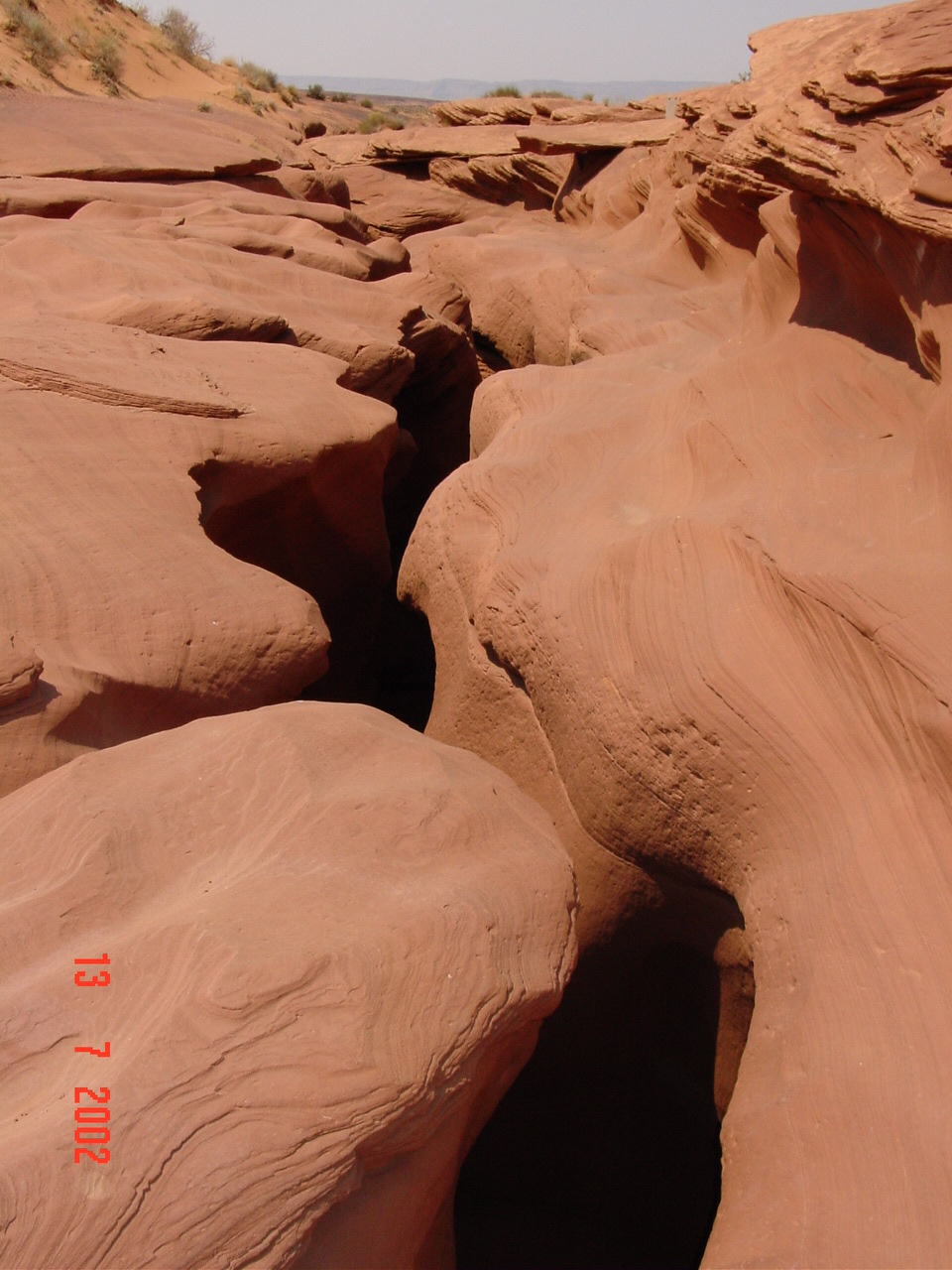 The entrance to Antelope Canyon
