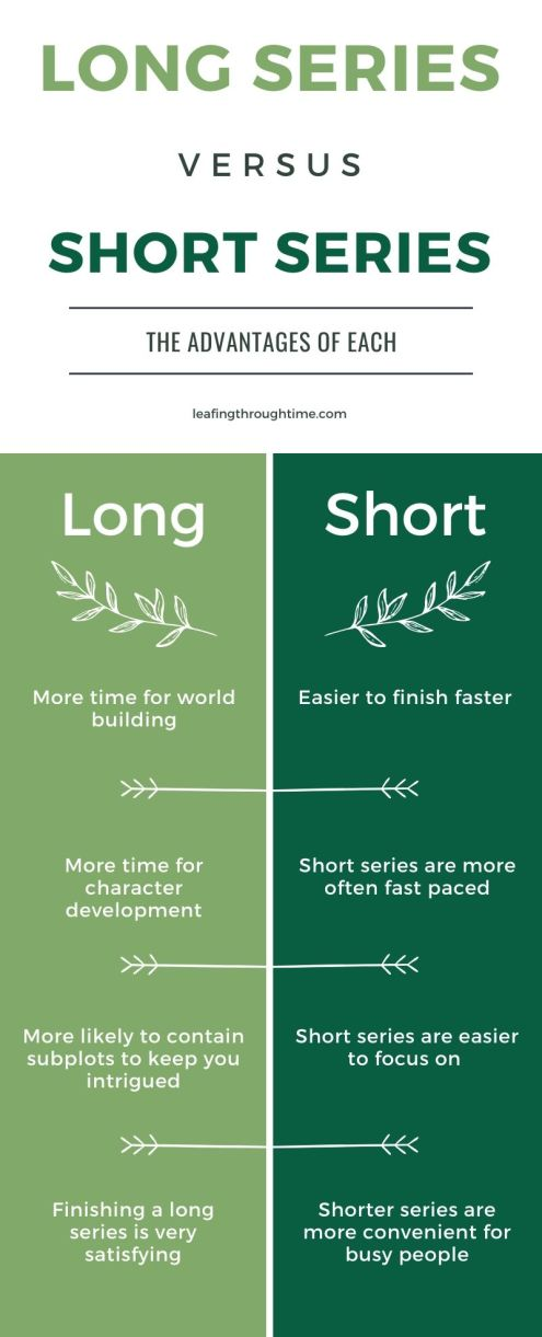 long and short book series advantages