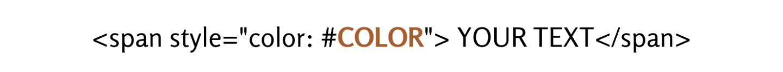 Change text color HTML image
