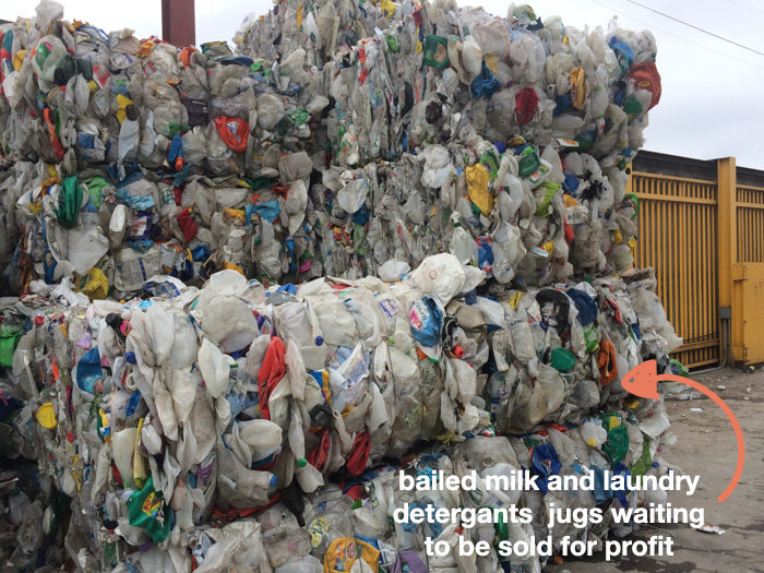 Bailed plastic products