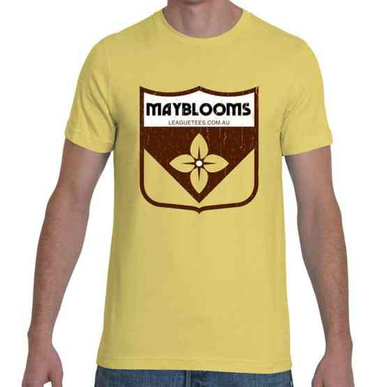 Mayblooms retro football t shirt