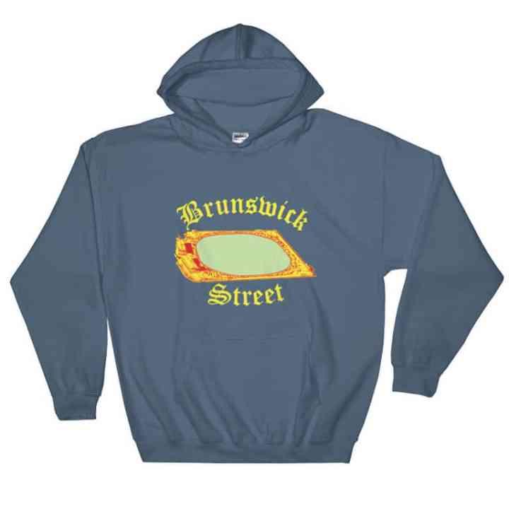 Brunswick Street Oval Fitzroy hoodie in blue
