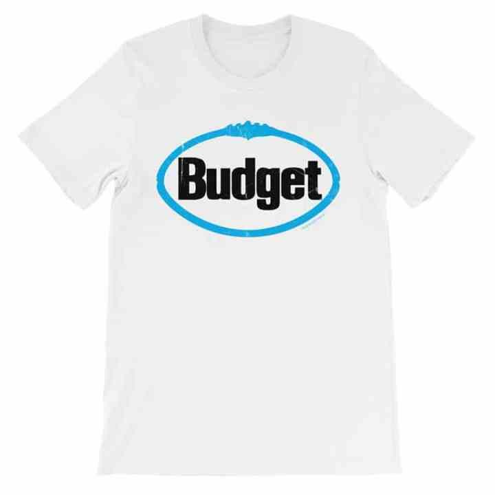 Retro round budget vintage t shirt
