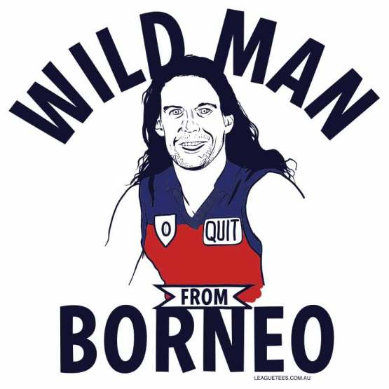 The wild man from Borneo played footballin the 90s