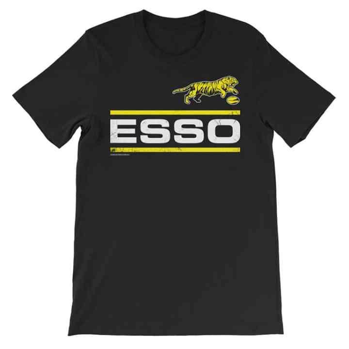 ESSO retro footy shirt black