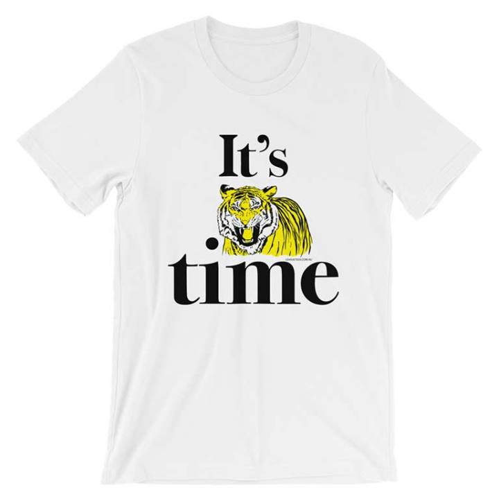tiger time footy tees