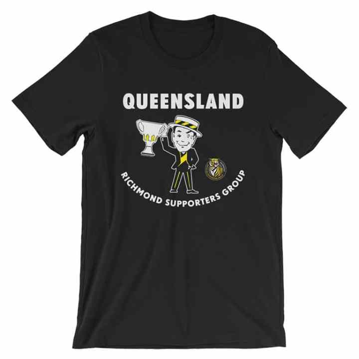 Richmond Tigers Queensland Supporters football black