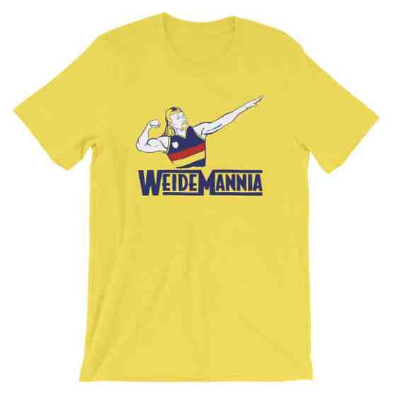 Weidemannia yellow vintage tshirt
