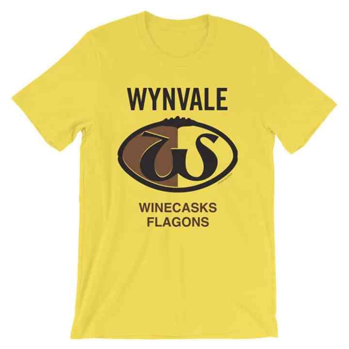 Wynvale retro footy tshirt gold