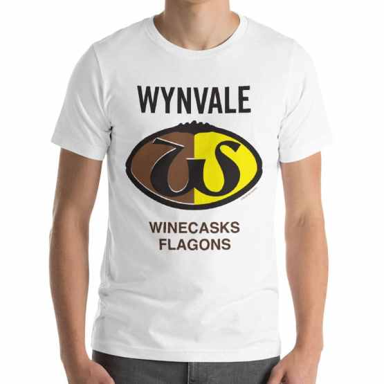 Wynvale wines flagons retro footy tshirt
