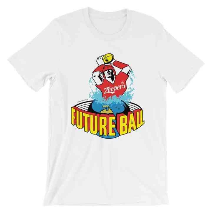 future ball retro footy tshirt white