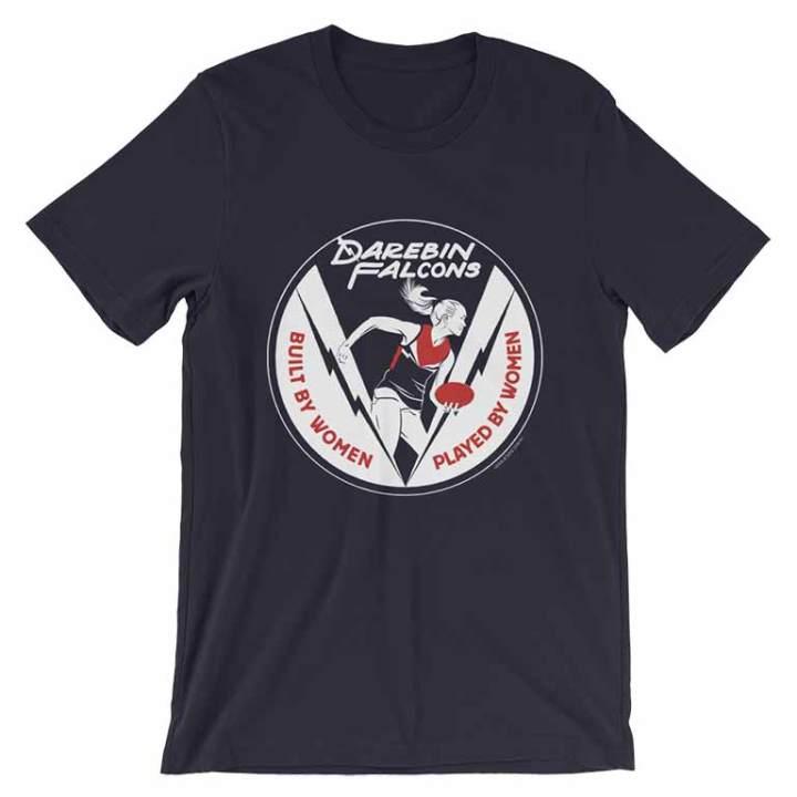 darebin falcons football navy tshirt
