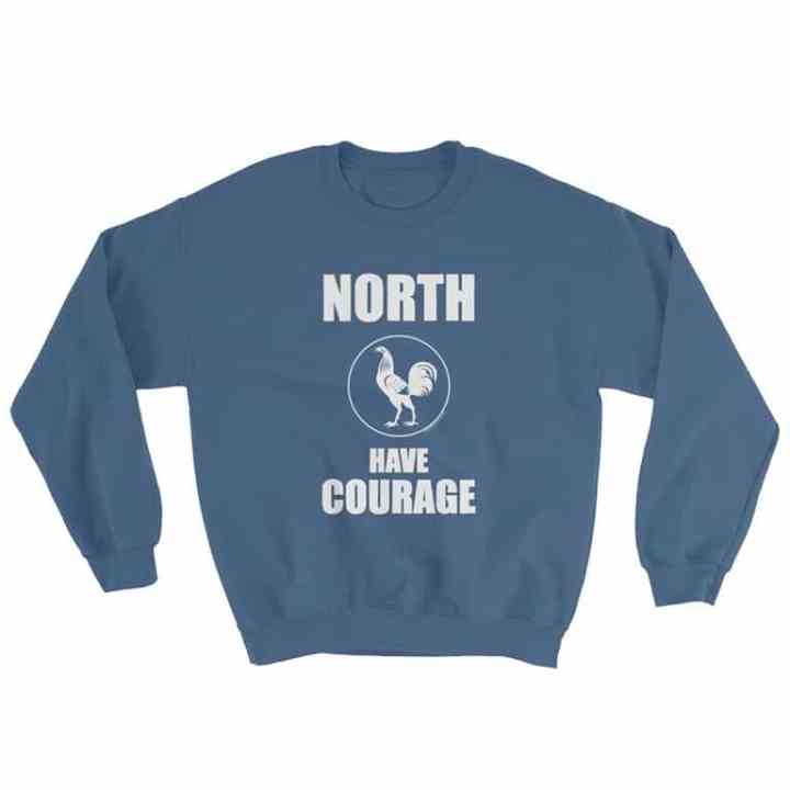 north has courage retro footy jumper