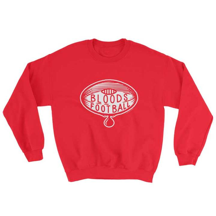 the bloods vintage football jumper red white