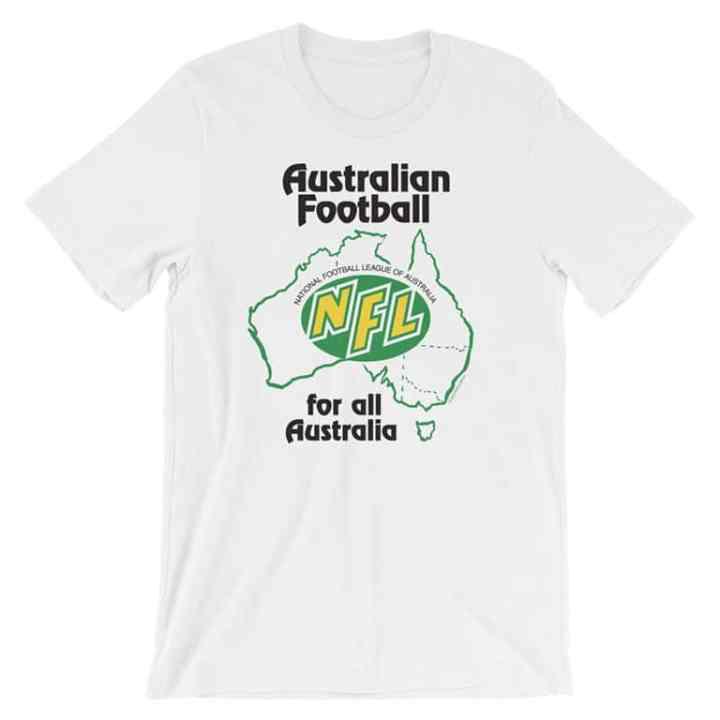 NFL australia retro footy tee white