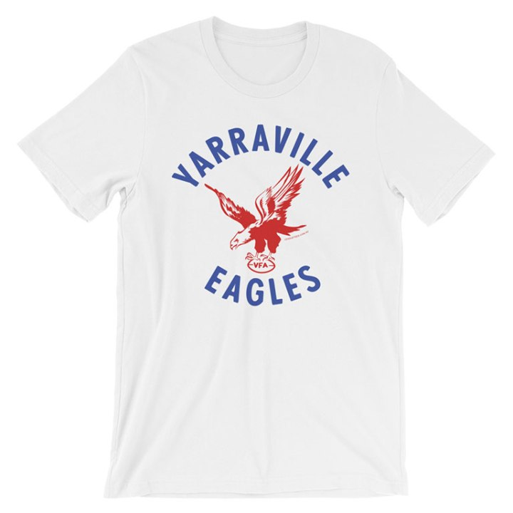 yarraville eagles vfa retro footy t-shirt white