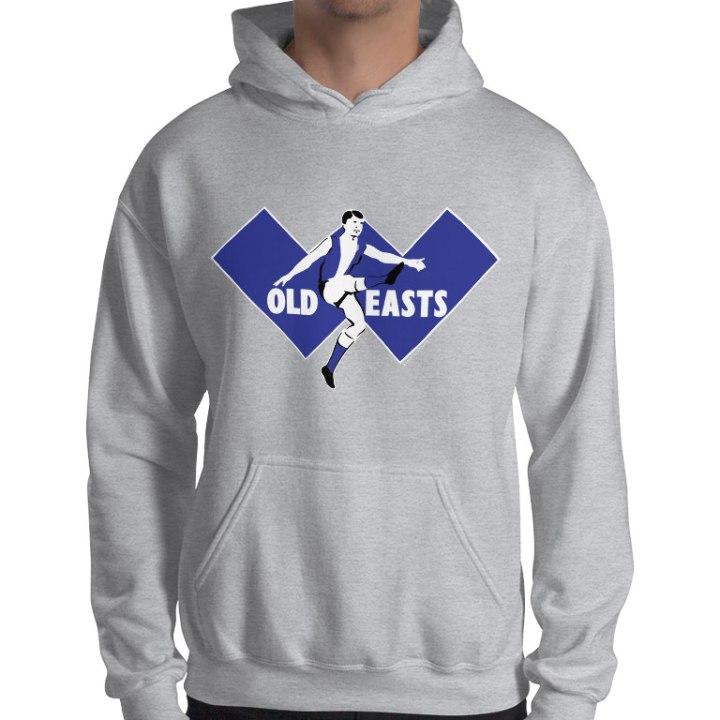east fremantle retro footy hoodie