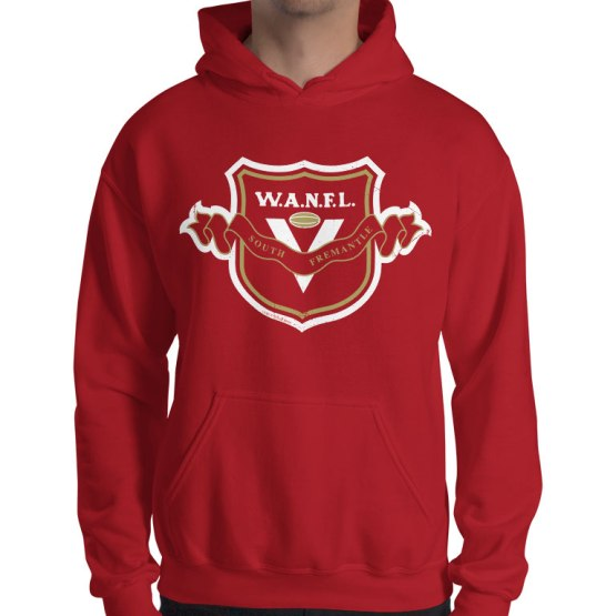 south fremantle retro footy hoodie