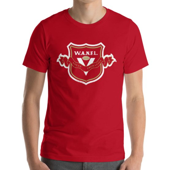 south fremantle retro footy t-shirt