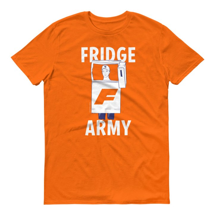 Fridge Army womens footy orange