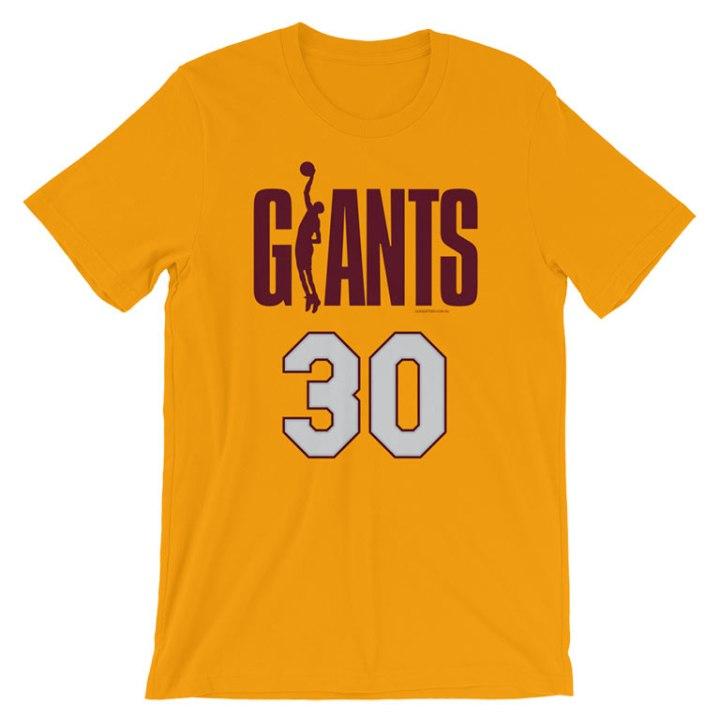 north melbourne giants vintage t-shirt gold