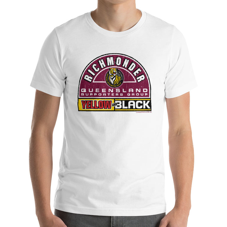 Official Richmond Queensland Supporters Group Maroons t-shirt