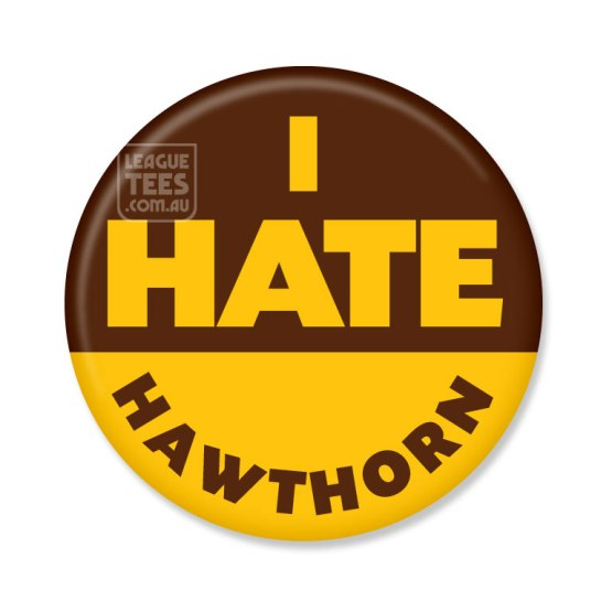 i hate hawthorn footy abdge