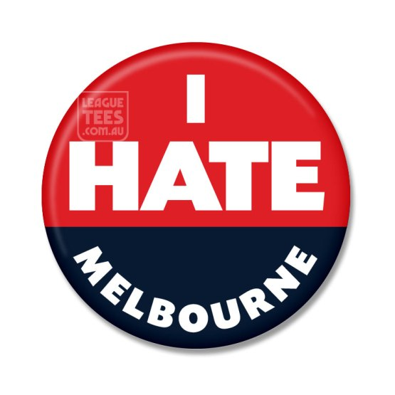 i hate melbourne badge