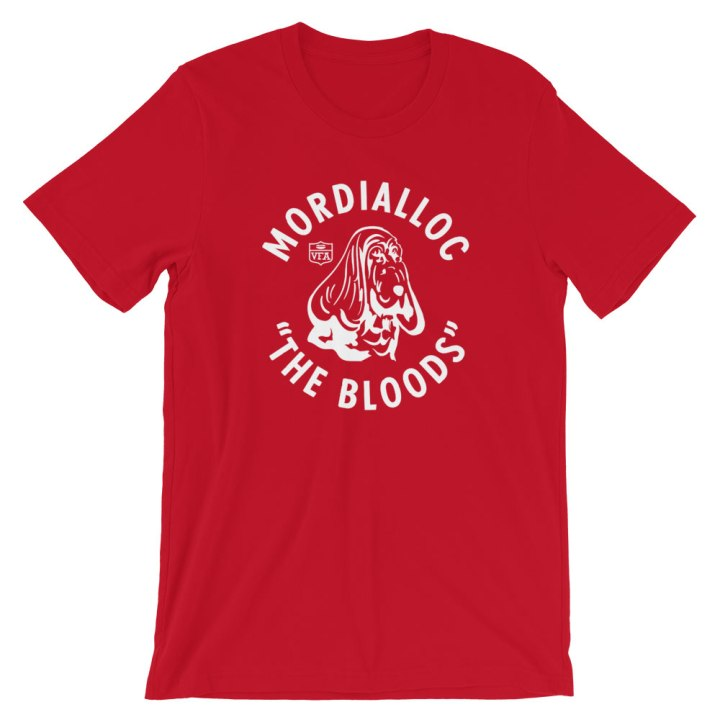 mordialloc bloods red football shirt