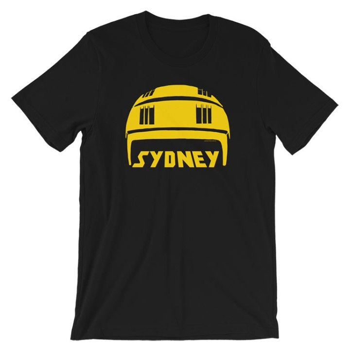 sydney stack hat shirt black