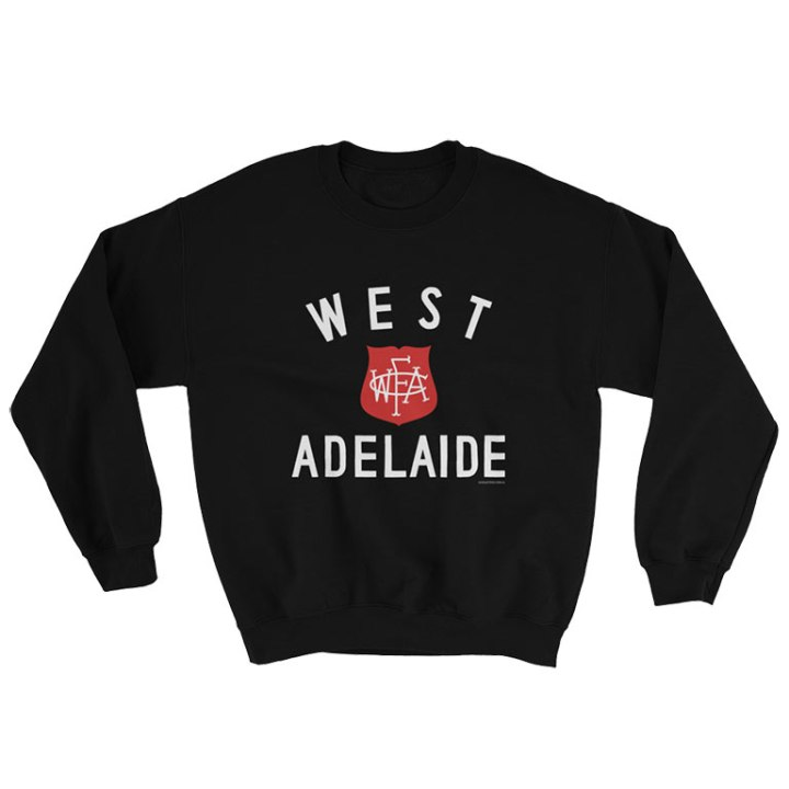 west adelaide retro footy jumper black