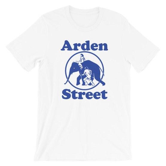 arden street elephant shirt white