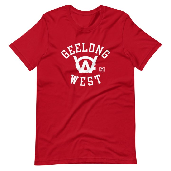 geelong west vfa t-shirt red