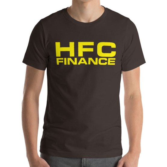 HFC finance vintage football shirt
