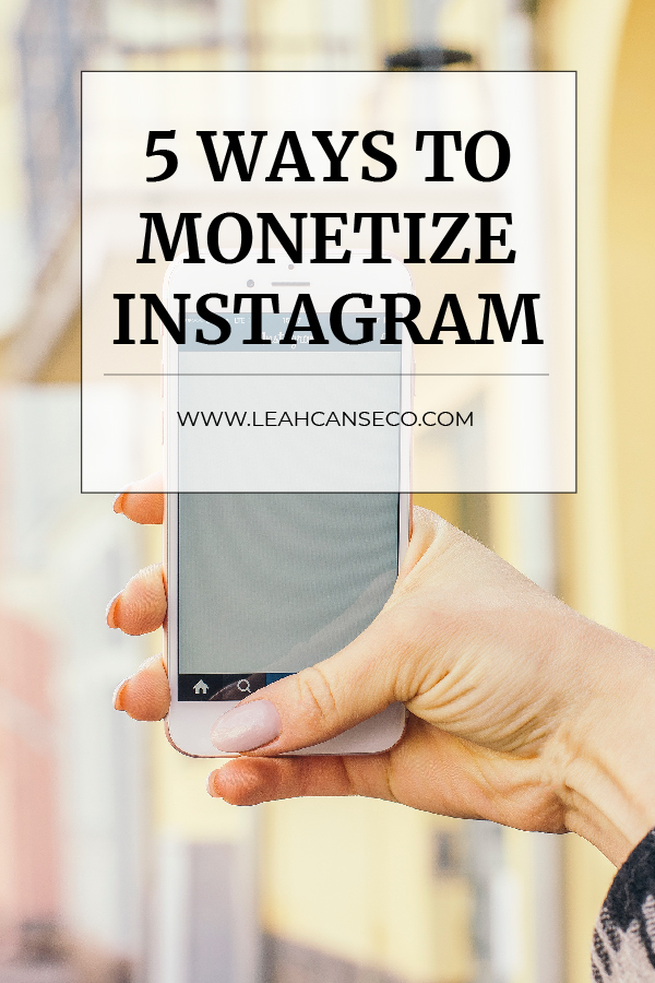 Learn the 5 ways you can use Instagram to make money now #makemoneyonline #makemoneyfromhome #instagram