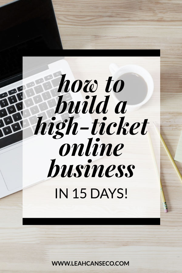 how to build an online business in 15 days