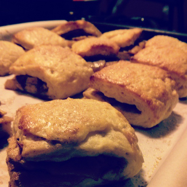 Second Baking Boot Camp challenge from Joy the Baker - Apple Pie Biscuits. Yum!  #bakingbootcamp