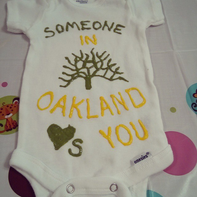 Baby shower crafting.