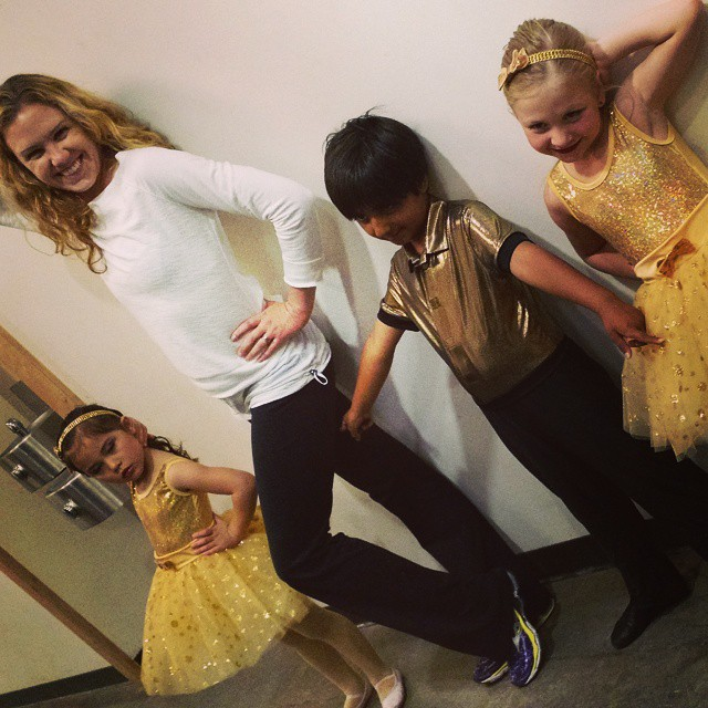 Recital day! My Intro to Dance kiddos were adorbs.
