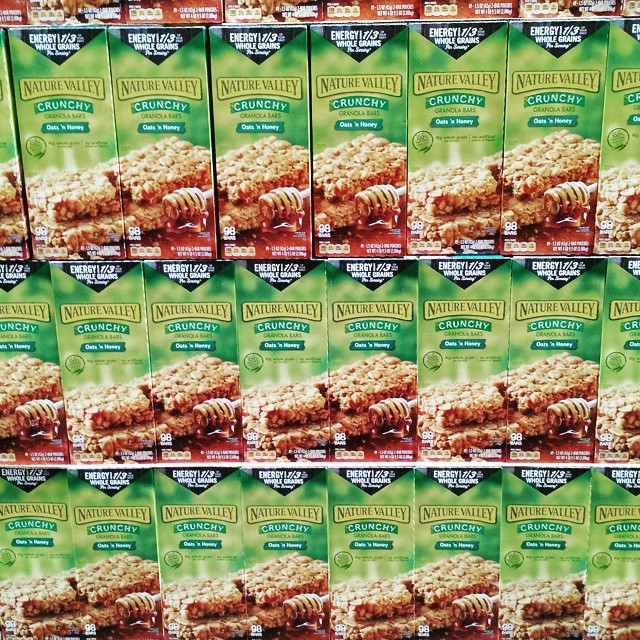 Costco is usually my idea of a nightmare - then I found this wall of Nature Valley granola bars. #foodporn