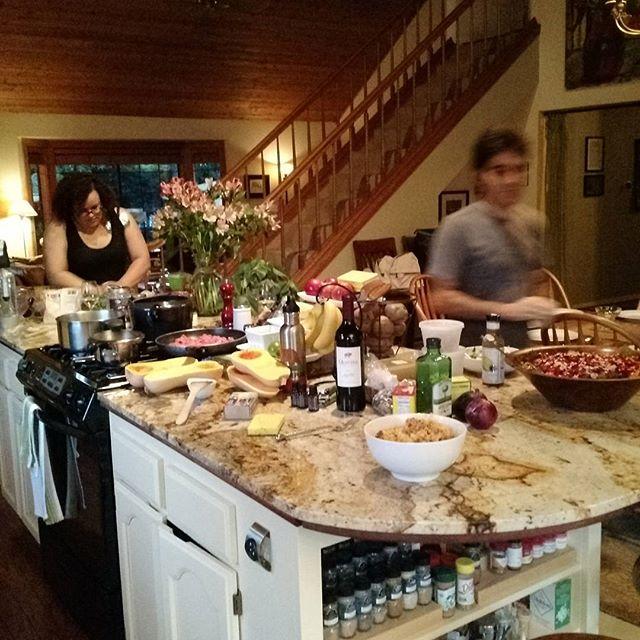 Family meal. #teamorganiccabbagepatchkidsvsMonsantosworstnightmare