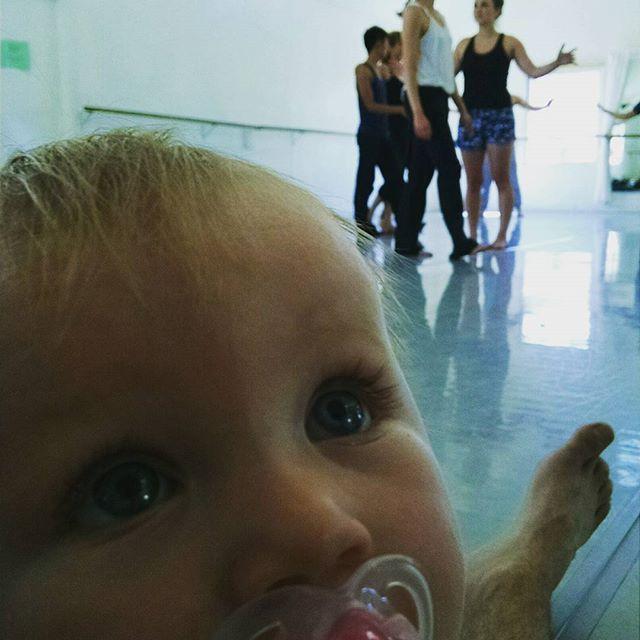 Babies first dance rehearsal.  #graciejeansamson